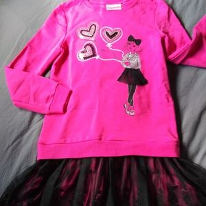 New Girls tutu pink dress Flapdoodles sz 10-12